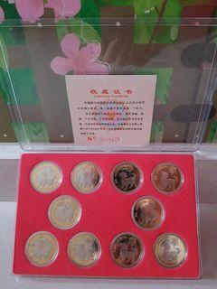 Yr'2018China¥10×10pcs Commemorative coins set