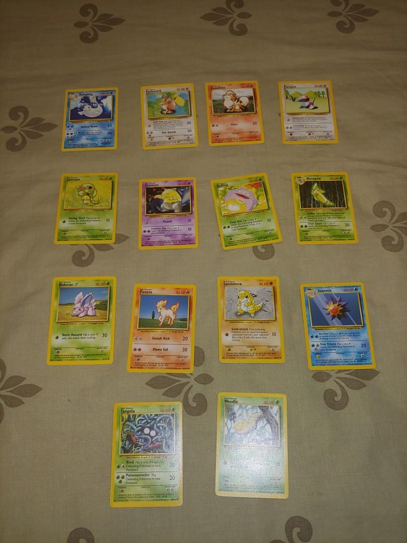 14 Pokemon Base Set Cards