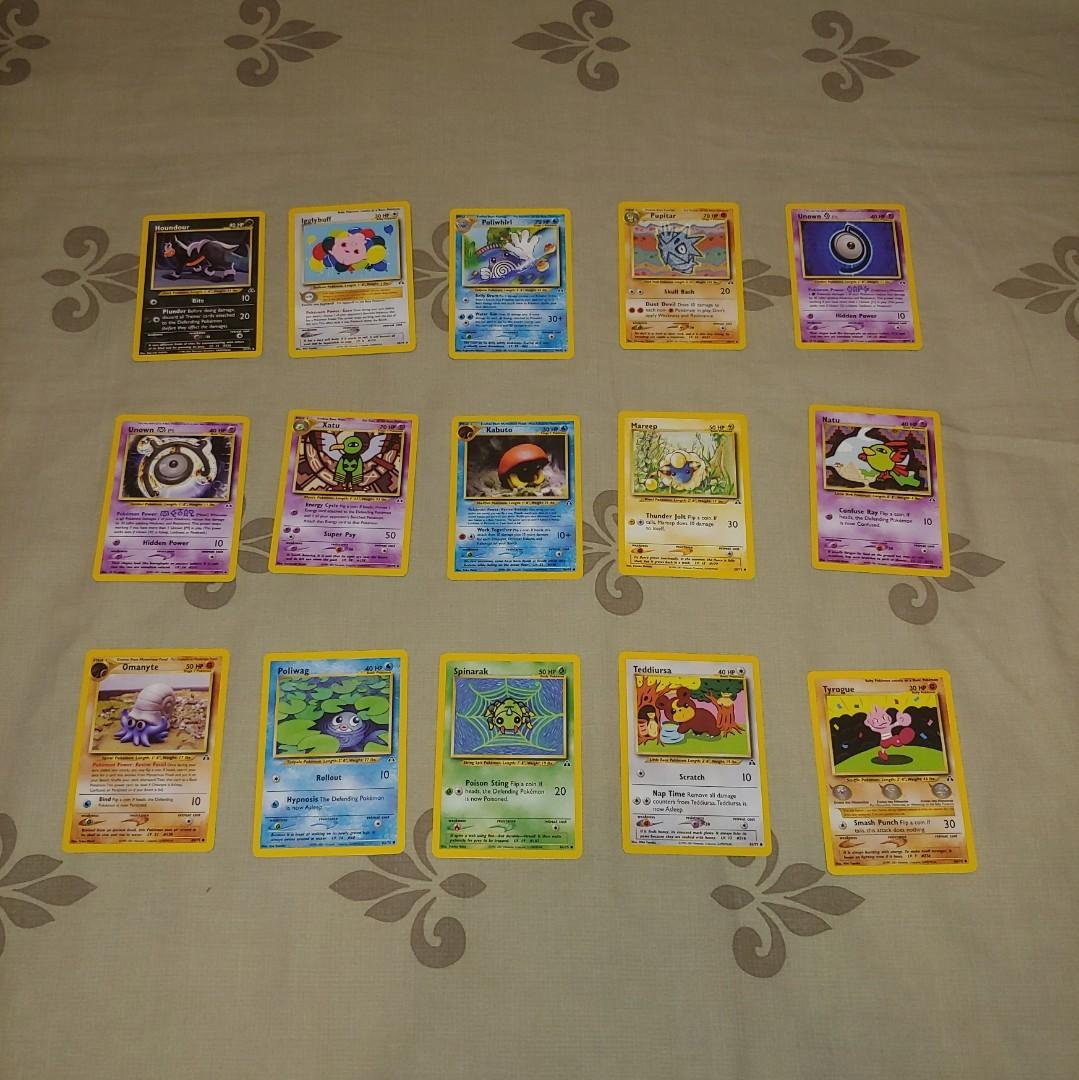 15 Pokemon Neo Discovery Set Cards