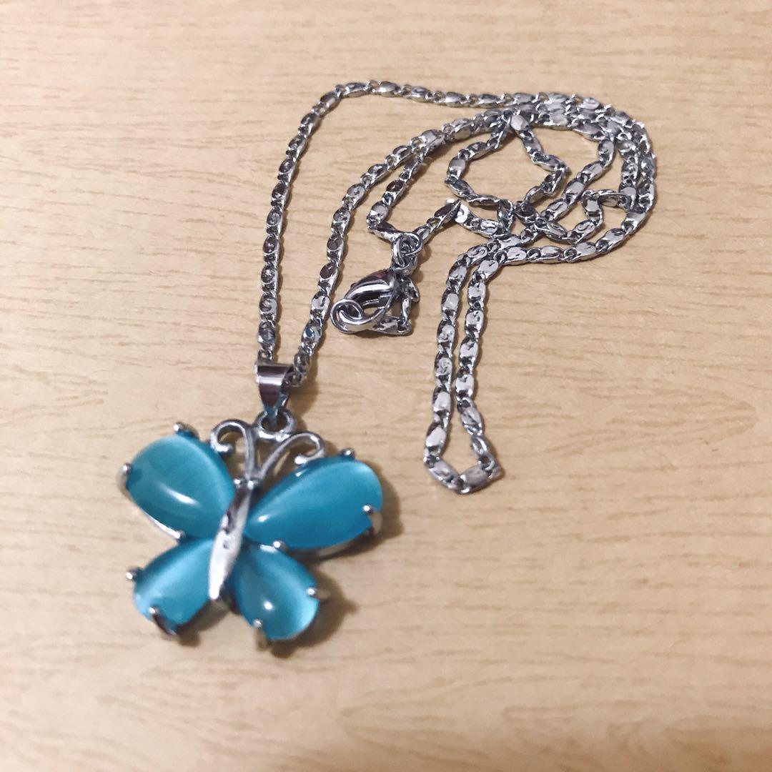 藍色蝴蝶🦋項鍊|保存狀況良好,七成新