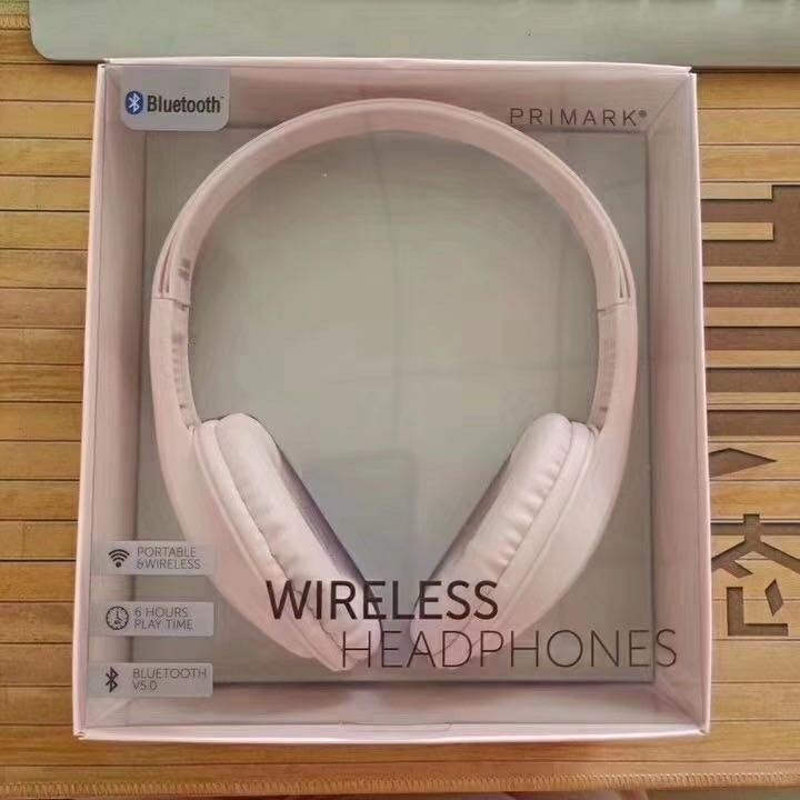 可愛風粉紅大耳耳機