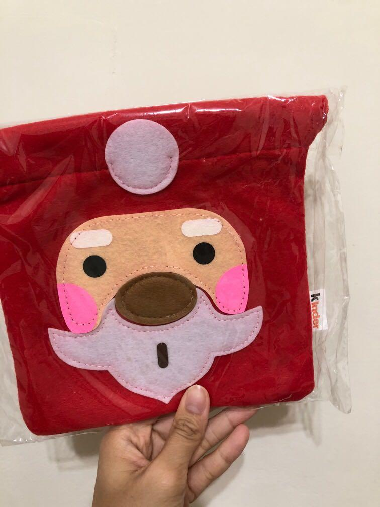健達聖誕造型束口袋