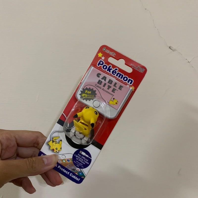 日本 寶可夢 皮卡丘 iPhone 充電線 咬線器