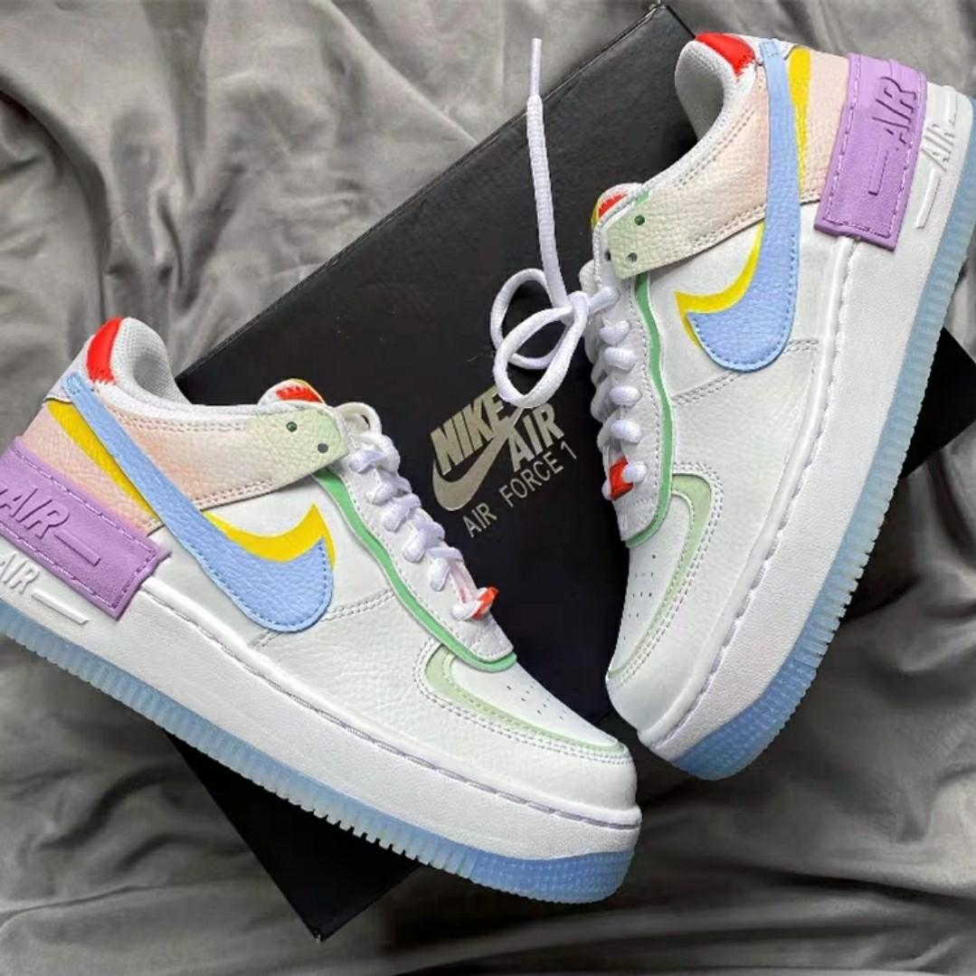 Authentic Nike Air Force 1 Shadow Diamond Baby Pastel Multicolour Ulzzang Harajuku Korean Tumblr Basic Streetwear Sneakers Shoes Women S Fashion Shoes Sneakers On Carousell 4.7 out of 5 stars 398. sgd