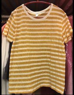 (兩款)韓製 條紋t恤