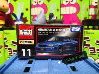 日版 TOMICA PREMIUM TP 11 Skyline GT-R V-SPEC II NUR