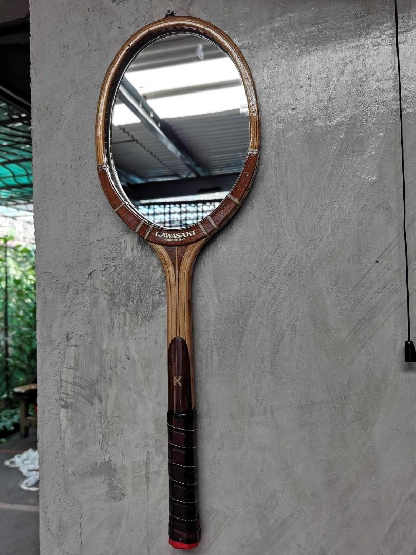 Accent Repurposed Tennis Racket Mirror Home Furniture Furniture Fixtures Others On Carousell