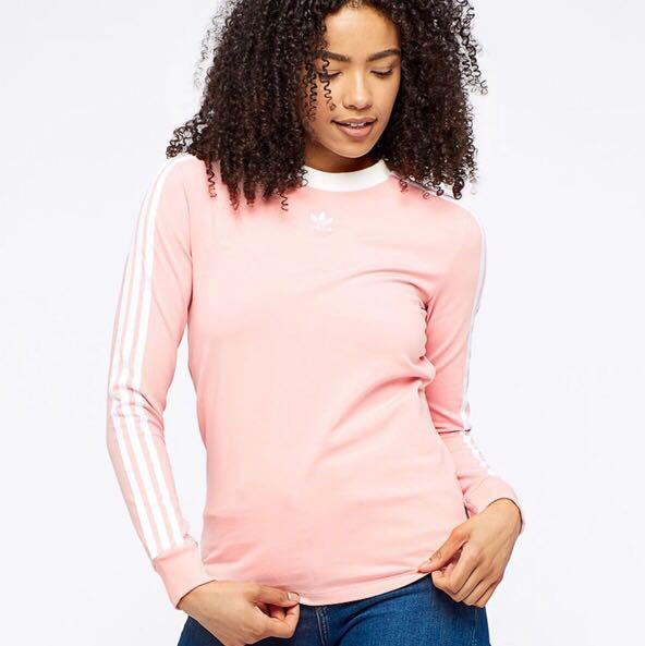 adidas pink crew neck