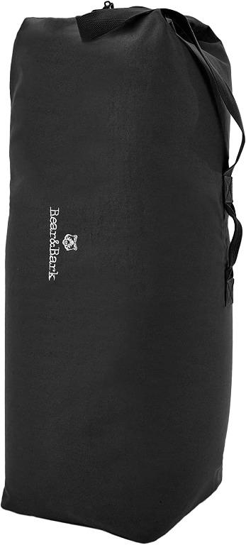 Bear&Bark Top Load Canvas Duffel Bag -Black 34x20 inch