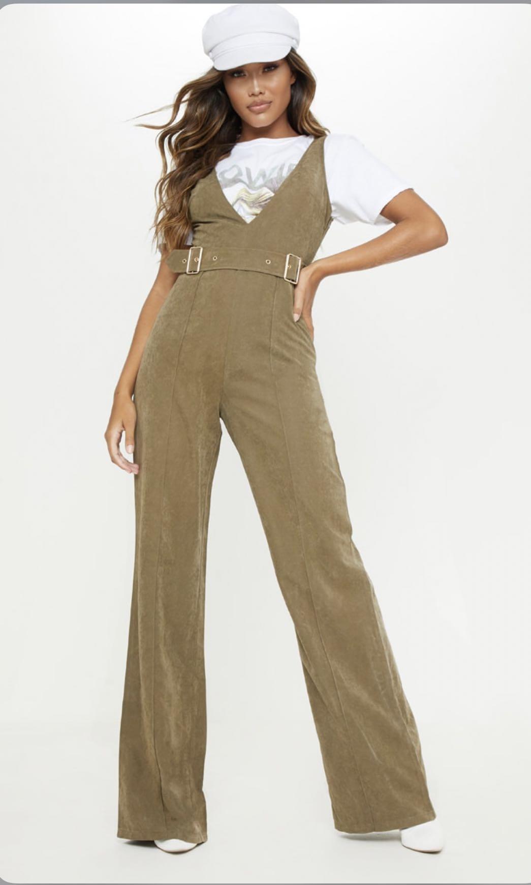 Belted Wide Leg Jumpsuit