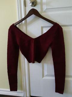 Burgundy Crop Top from Forever21