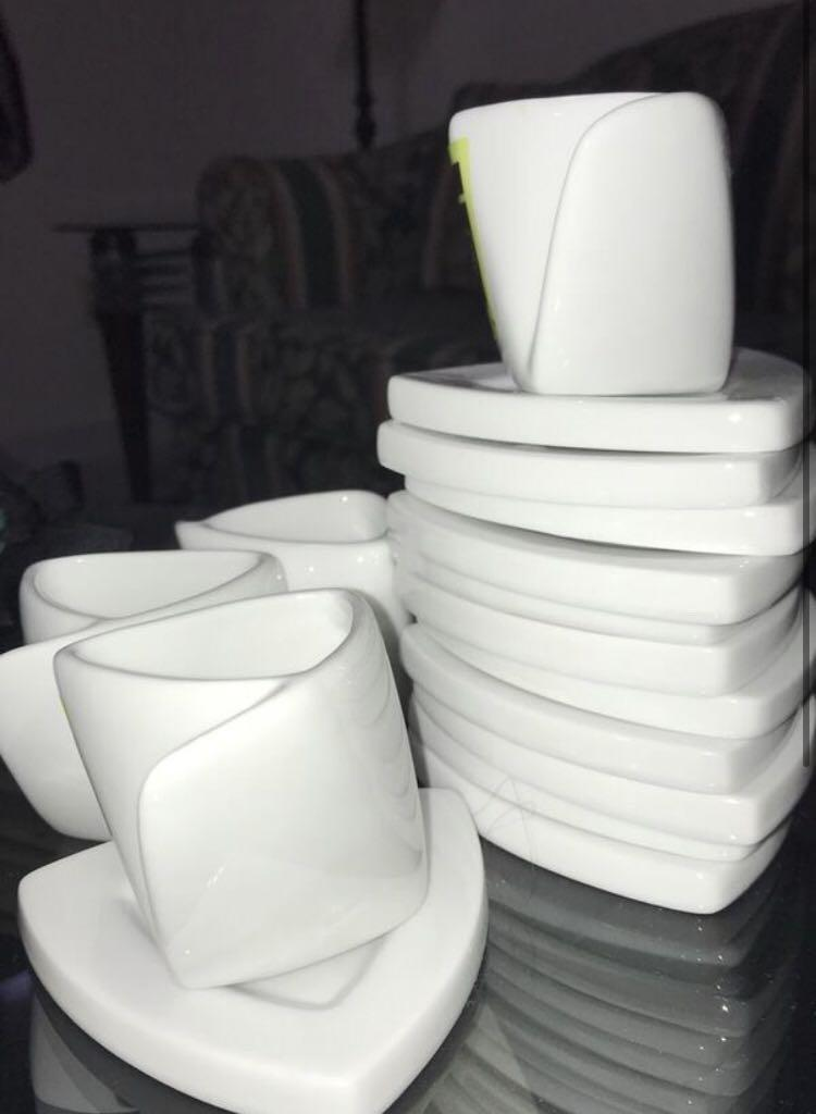 Espresso Cups and Plates