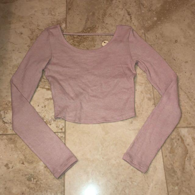garage pink crop top