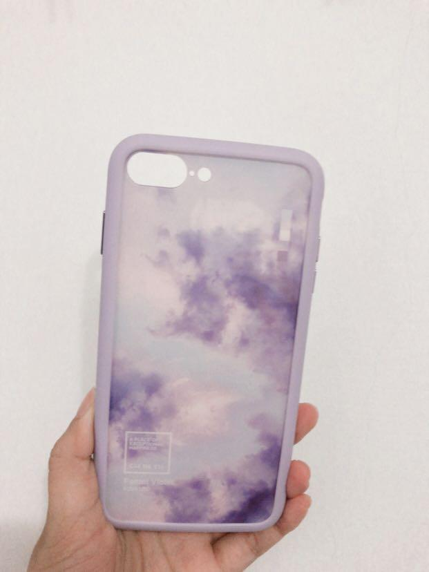 I8+ 惡魔盾 水藍茜空+薰衣紫 無邊條!