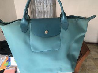 Longchamp Neo Medium - Turquoise Blue (Original)