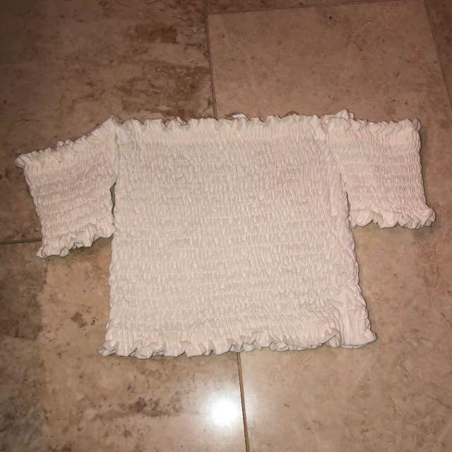 M boutique smocked top