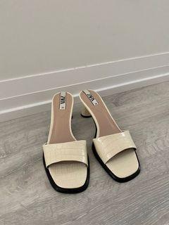 NEW no tags Zara Animal Print Heeled Sandals
