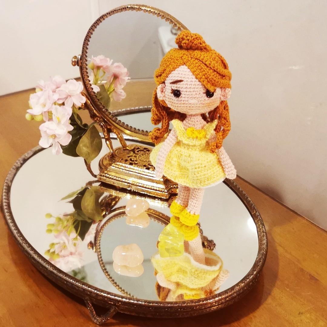 Princess Belle Amigurumi/Boneka Rajut
