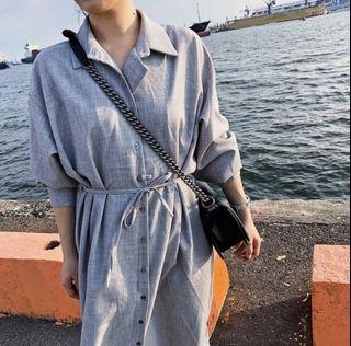 Raum灰色襯衫式洋裝