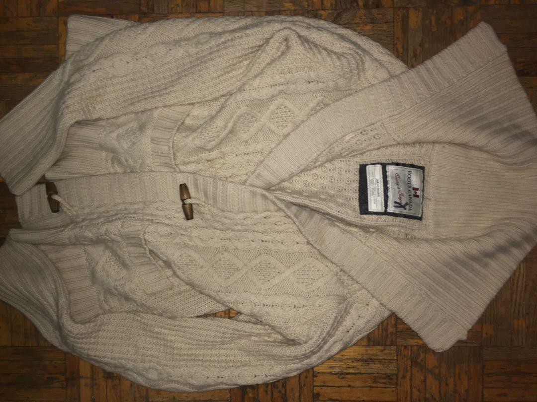 Roots knitted tie sweater