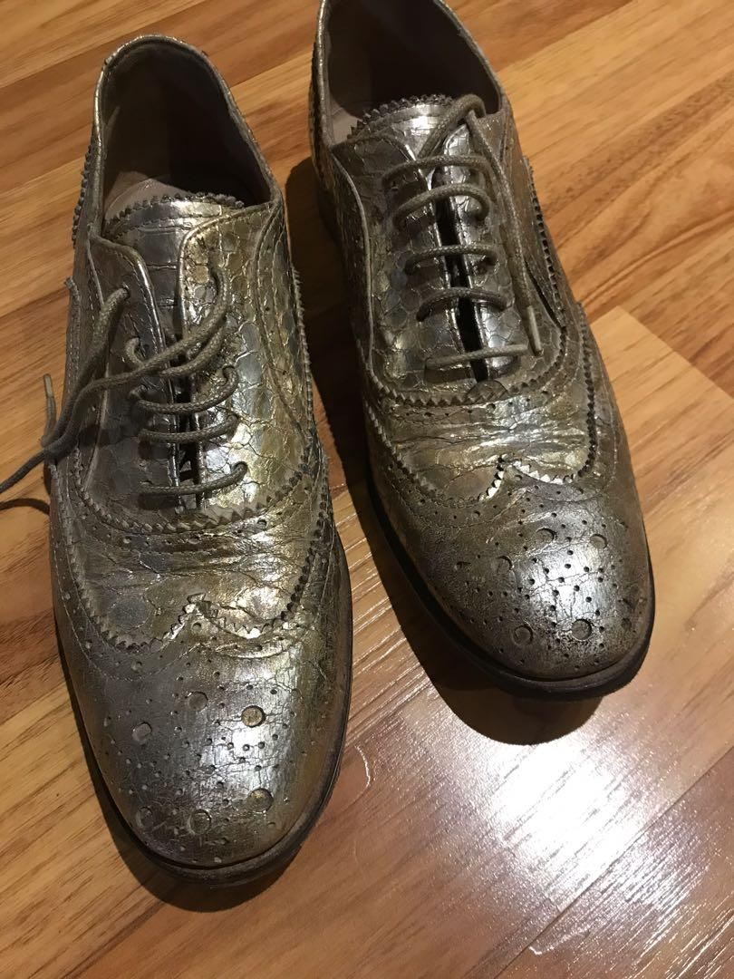 Silver/gold mimosa shoe