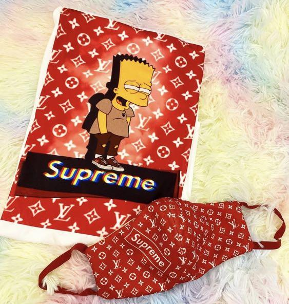 Stylish LV Supreme Inspired Breathable Adult FaceMask