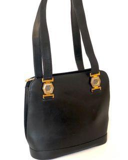 Versace Medusa Tote Black Leather (25x24cm) @2.35jt . Fbc