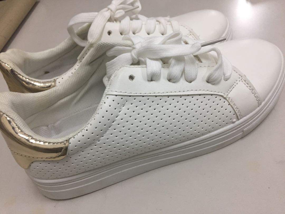 White leatherette shoes with FREE 1
