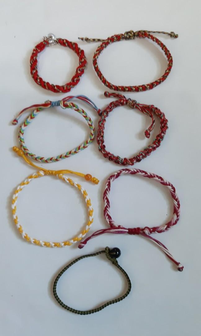 五色線綜合手環.手作商品-可調大小-男女老少適載.全部7件一起賣$180元