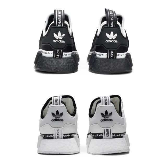 adidas nmd r1 white tape logo