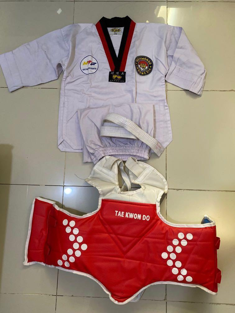 Baju Taekwondo + shield anak