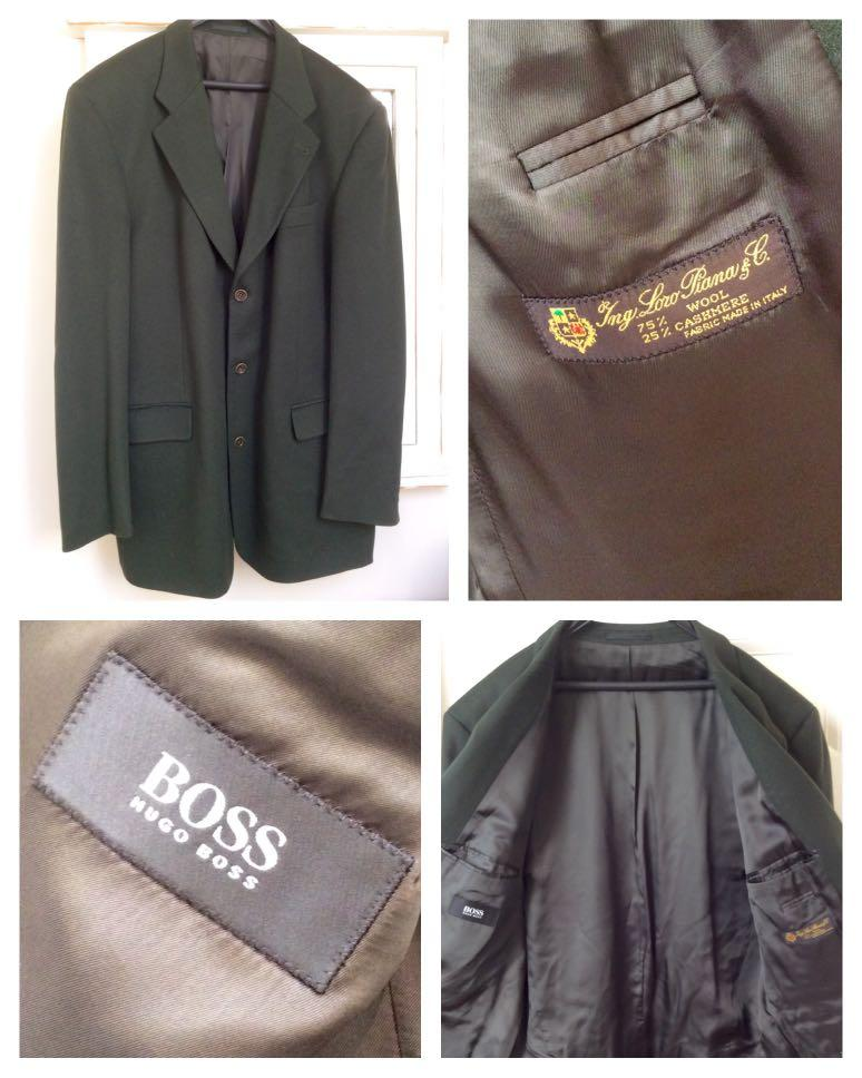✨Beautiful Cashmere and Wool Hugo Boss Olive Men's Blazer✨
