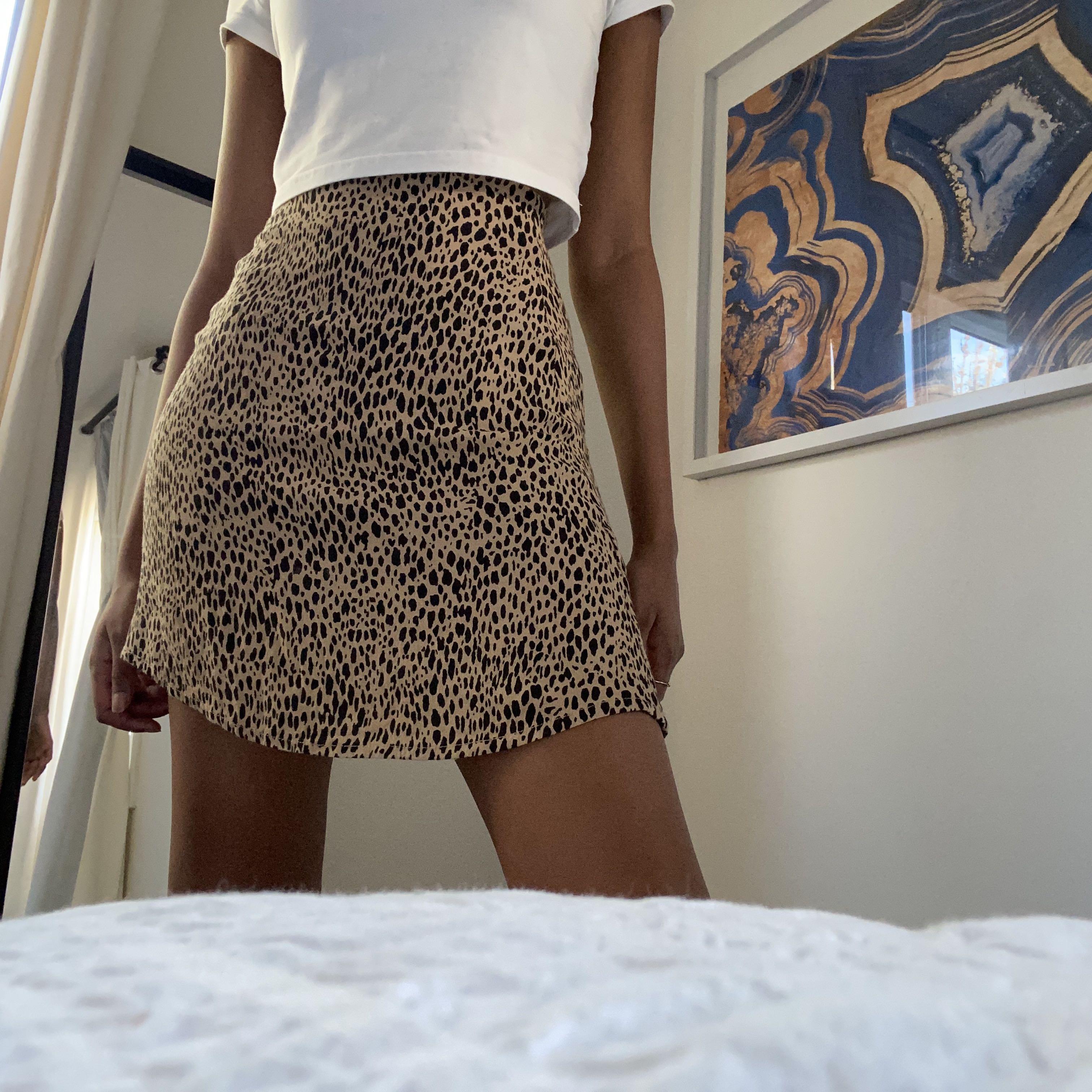 Brandy Melville Leopard Phoebe skirt