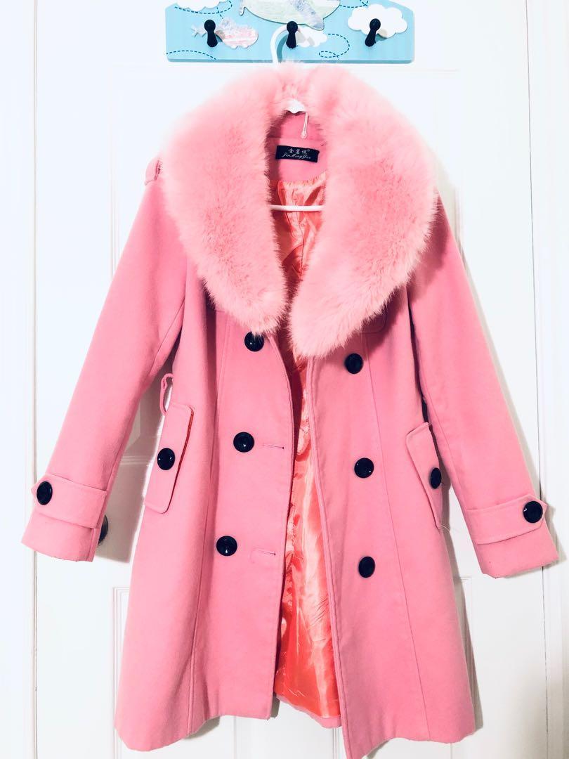 Cute Pink coat (faux fur) XS-S