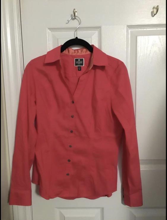 """Express """"the essential shirt"""" Dress Shirt (size xs)"""