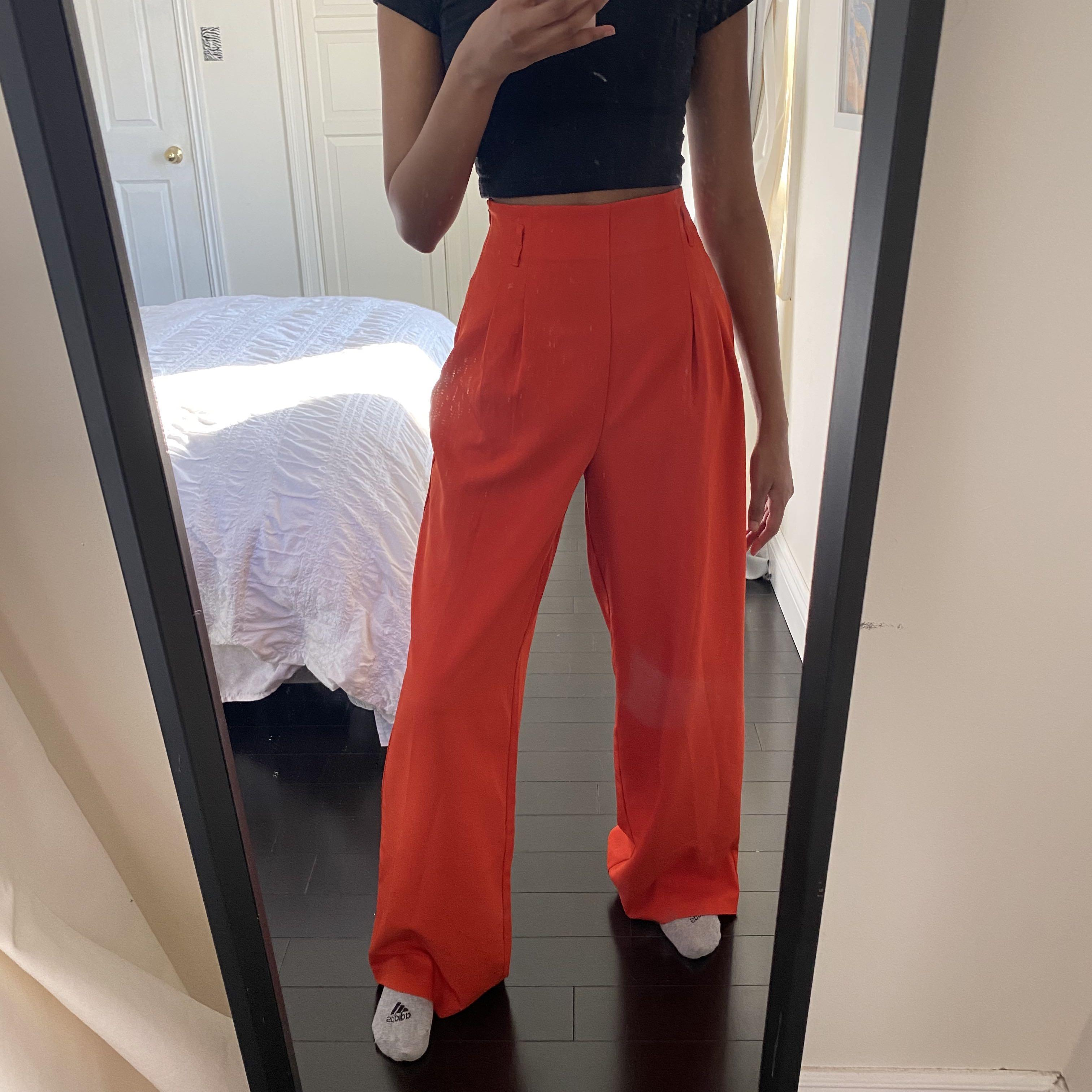F21 High waisted wide leg trousers