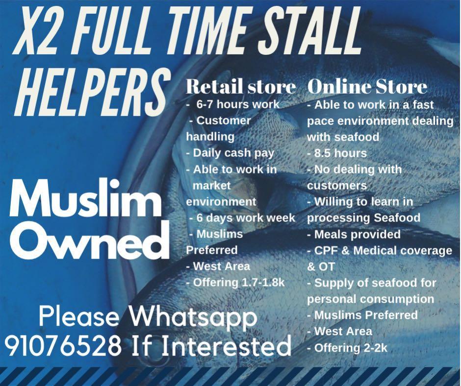 Fish stall Helper