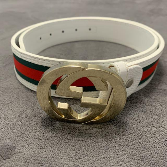 Gucci Leather Web Belt