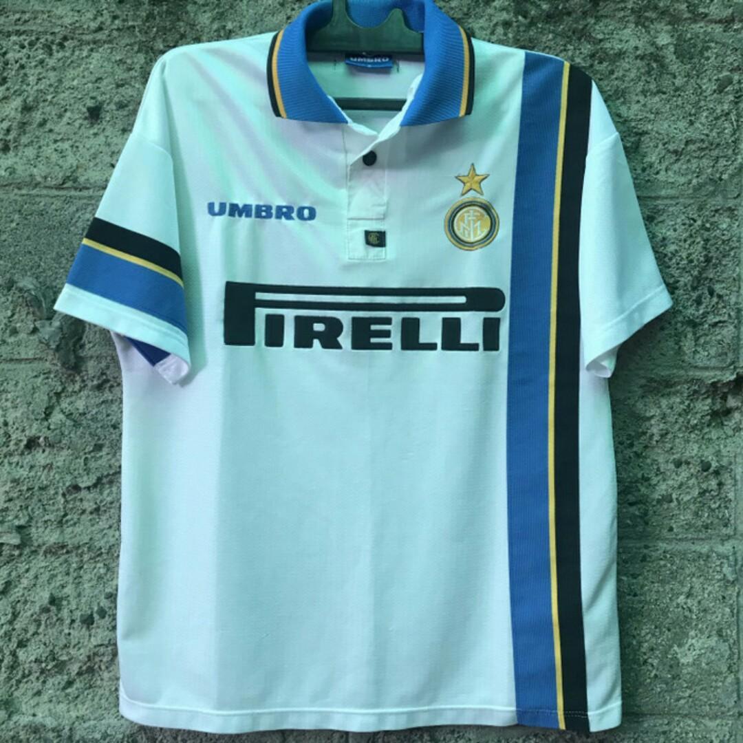 Inter Milan Jersey Away Retro Classic Umbro Original Internazionale FC 1997 Size Medium Kaos Baju Bola Asli