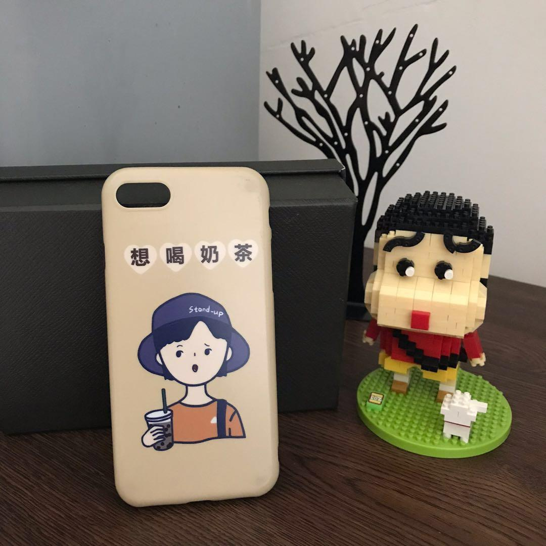 iphone 7 想喝奶茶手機殼(軟殼)