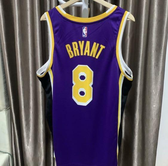 Kobe Bryant #8 Los Angeles Lakers Away Jersey Swingman NBA Nike Original Authentic 100% Purple RIP Kobe Kaos Baju Basket Asli Super Rare Size L