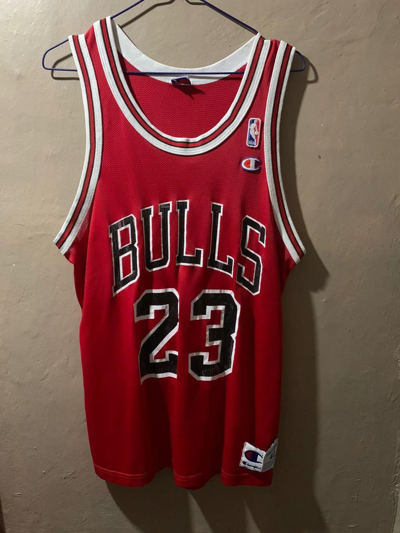 Michael Jordan #23 Retro Classic Jersey Swingman Champion Original Authentic 100% Chicago Bulls Away Red NBA Kaos Baju Basket Asli Size M Setara S