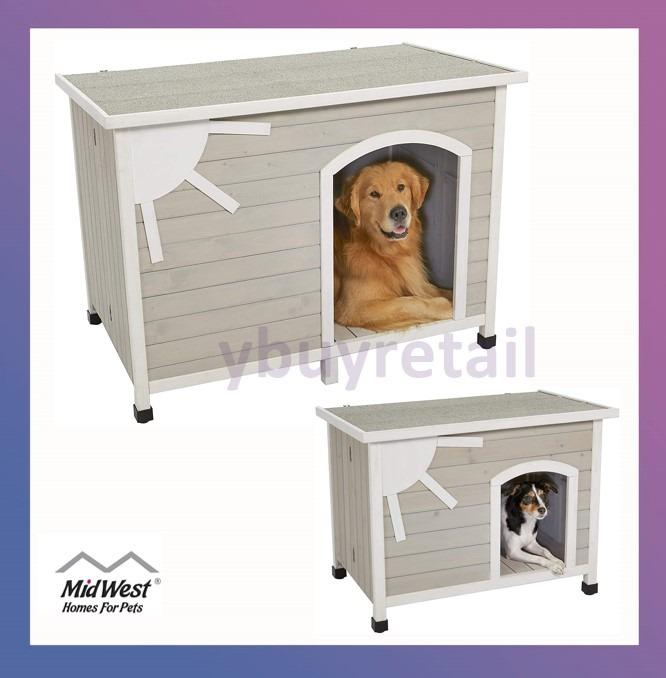 Midwest Homes For Pets Eillo Folding Outdoor Wood Dog House No Tools Required Embly Ideal Small Large Breeds Pet Supplies Dogs Accessories On Carou