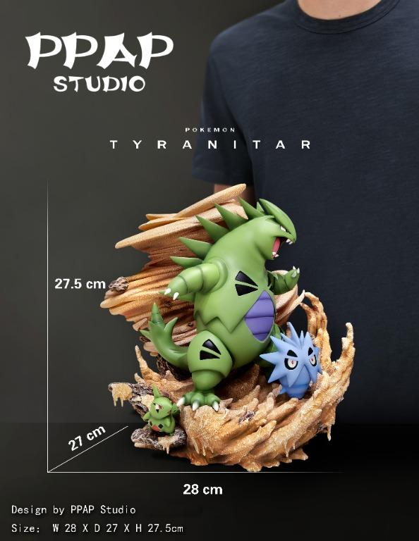 [PRE-ORDER]POKEMON: LARVITAR, PUPITAR AND TYRANITAR STATUE FIGURE