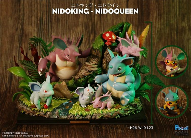 [PRE-ORDER]POKEMON: NIDOKING AND NIDOQUEEN STATUE FIGURE