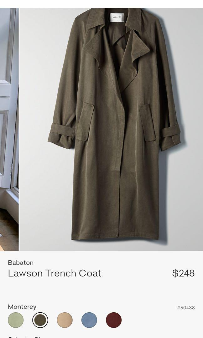Selling Aritzia Lawson Trench