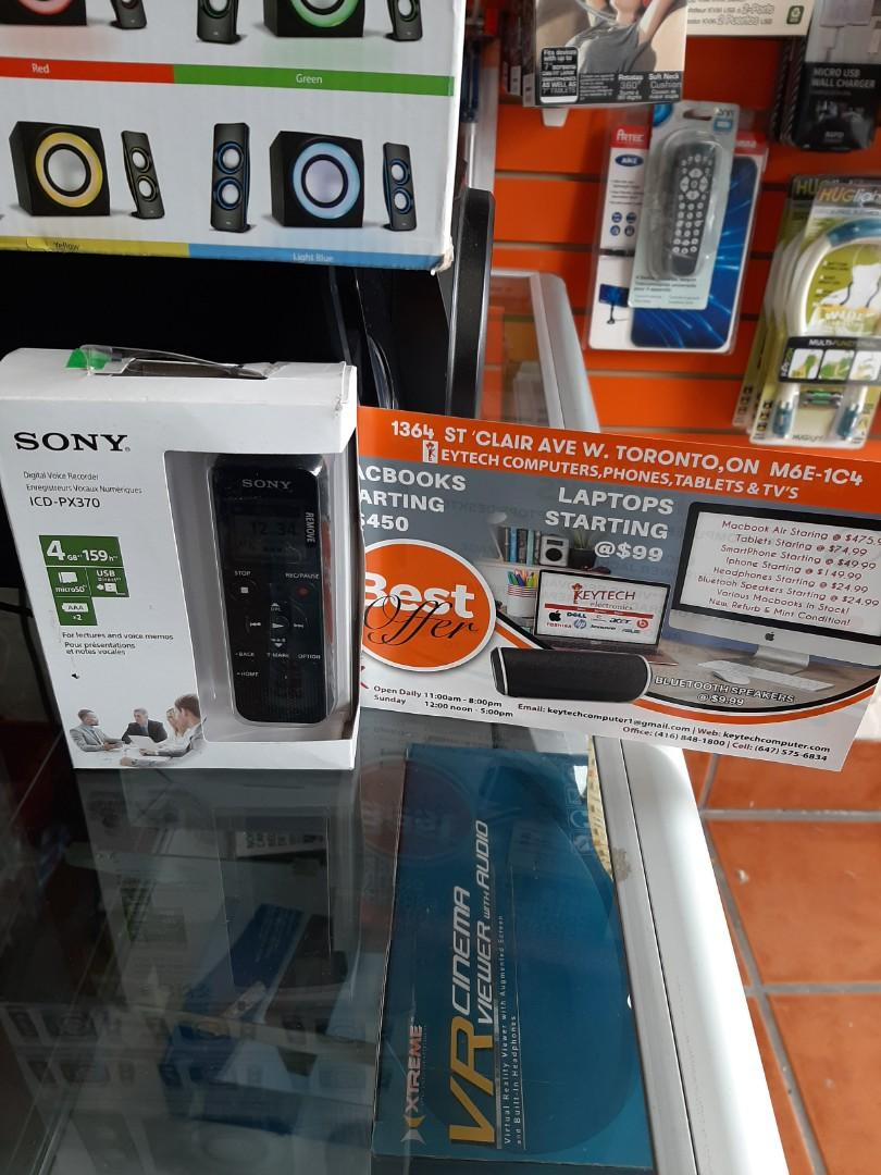 Sony Digital Voice Recorder with USB ICD open box