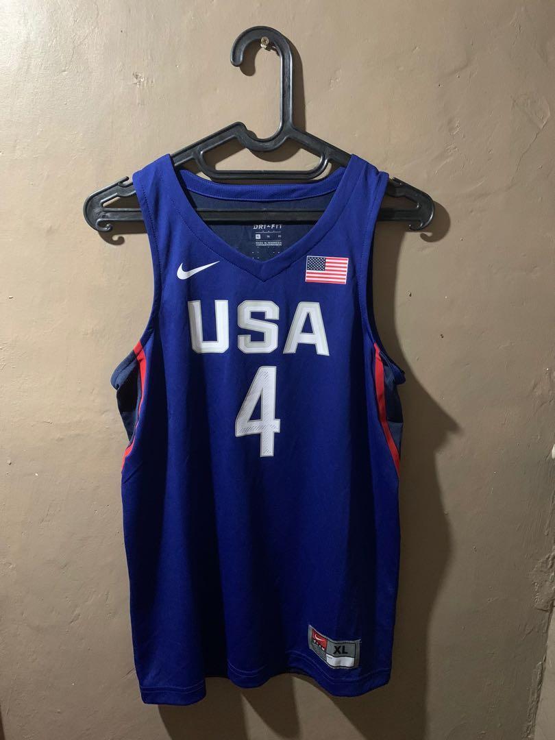 Stephen Curry #4 Jersey Basket USA Nike Basketball Original Kaos Baju Basket Asli Size XL Boys Setara S