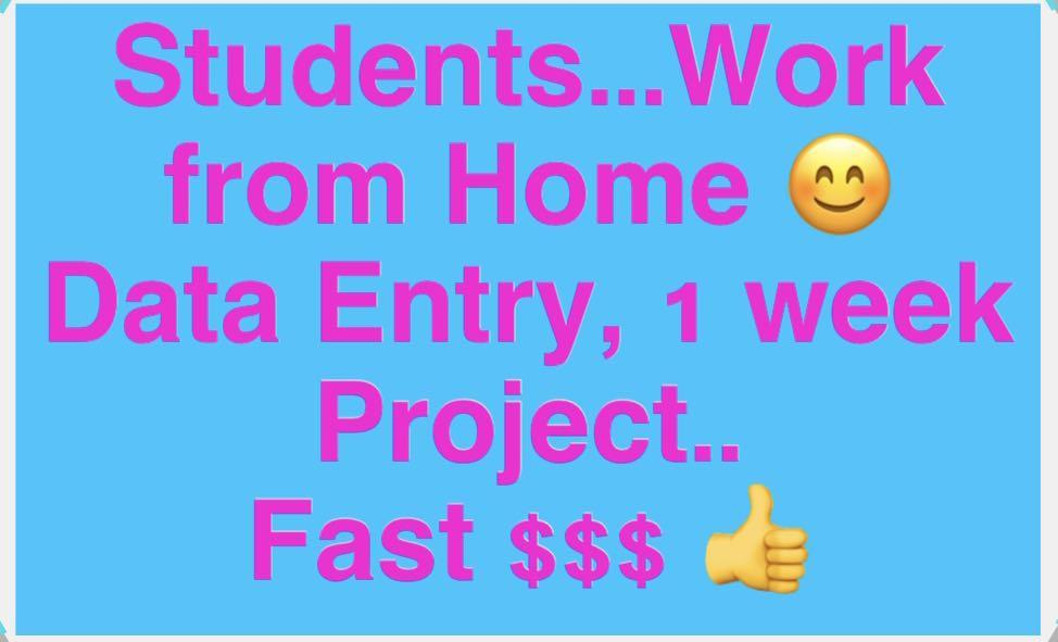 Student only - Data Entry Home Base WRH 😊