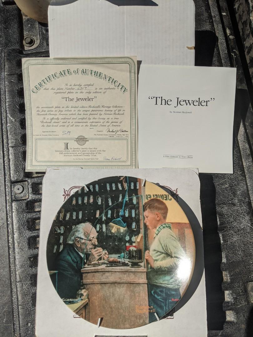 The Jeweler Norman Rockwell China plate